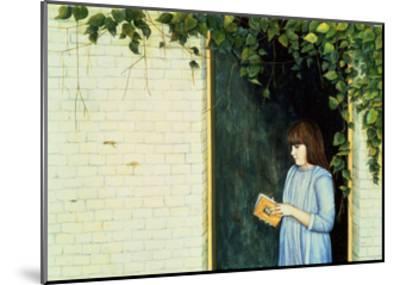 Reading Girl-Ditz-Mounted Giclee Print