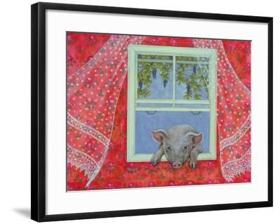 Grapes at the Window-Ditz-Framed Giclee Print