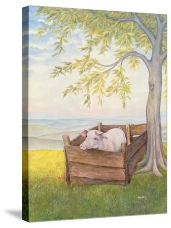 Rosie-Ditz-Stretched Canvas Print