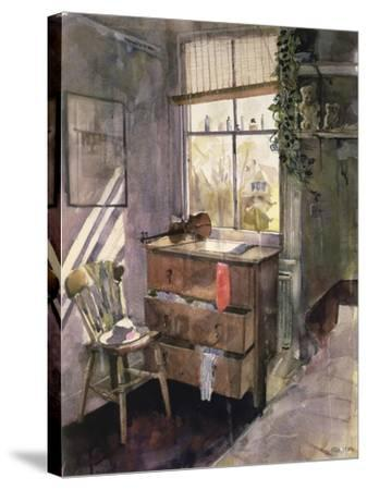 Anna's Bedroom-John Lidzey-Stretched Canvas Print
