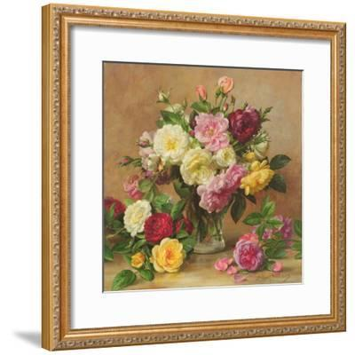 Old Fashioned Victorian Roses, 1995-Albert Williams-Framed Giclee Print