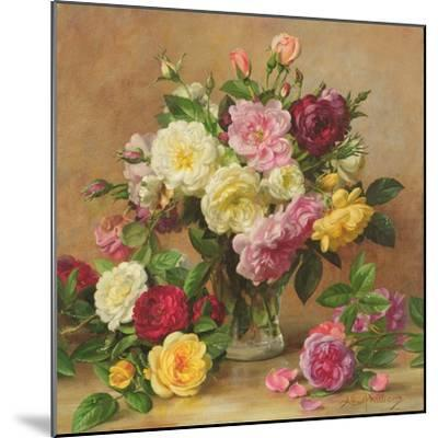 Old Fashioned Victorian Roses, 1995-Albert Williams-Mounted Giclee Print