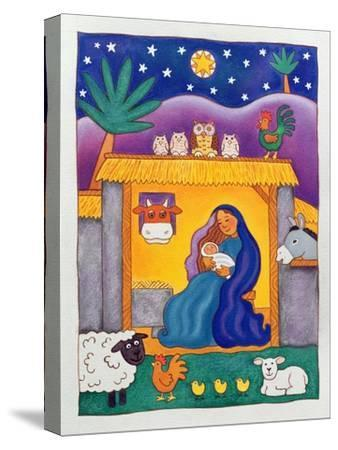 A Farmyard Nativity, 1996-Cathy Baxter-Stretched Canvas Print