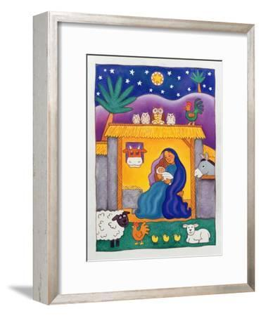 A Farmyard Nativity, 1996-Cathy Baxter-Framed Giclee Print