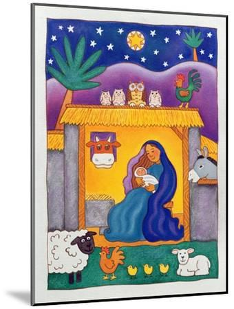 A Farmyard Nativity, 1996-Cathy Baxter-Mounted Giclee Print