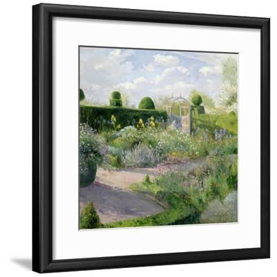 Irises in the Herb Garden, 1995-Timothy Easton-Framed Giclee Print