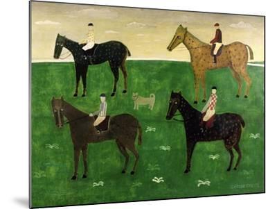 Horses and Jockeys-George Fredericks-Mounted Giclee Print
