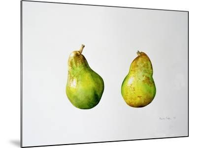 A Pair of Pears, 1997-Alison Cooper-Mounted Giclee Print