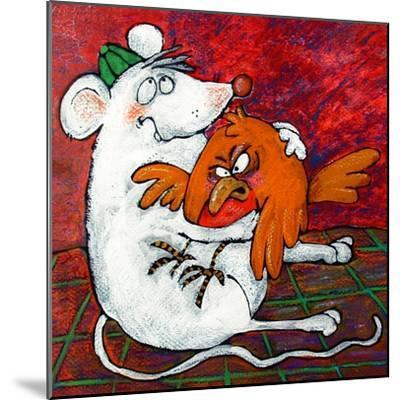 Mouse and Robin-Maylee Christie-Mounted Giclee Print