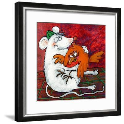 Mouse and Robin-Maylee Christie-Framed Giclee Print