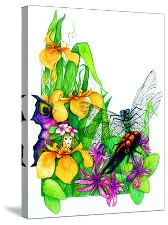 Fairy, Dragonfly and Beetle-Maylee Christie-Stretched Canvas Print