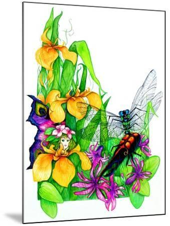 Fairy, Dragonfly and Beetle-Maylee Christie-Mounted Giclee Print