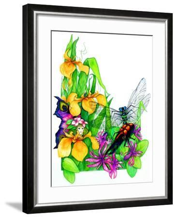Fairy, Dragonfly and Beetle-Maylee Christie-Framed Giclee Print