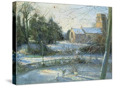 The Frozen Moat, Bedfield-Timothy Easton-Stretched Canvas Print