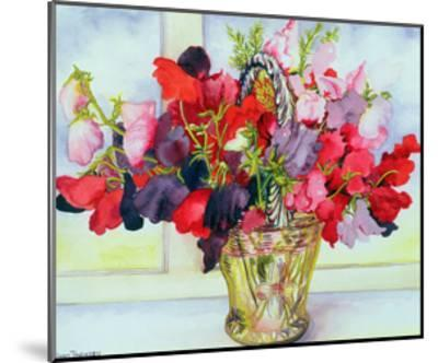 Sweet Peas in a Vase-Joan Thewsey-Mounted Giclee Print