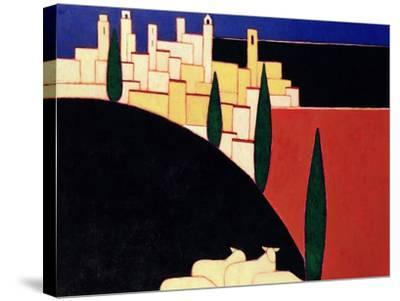 San Gimignano with Sheep, 1999-Eithne Donne-Stretched Canvas Print