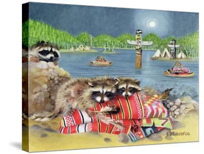 Racoons, 2000-E.B. Watts-Stretched Canvas Print