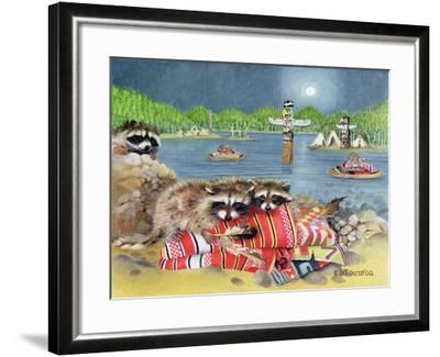 Racoons, 2000-E.B. Watts-Framed Giclee Print