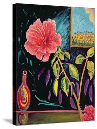Hibiscus with Vase-Patricia Eyre-Stretched Canvas Print