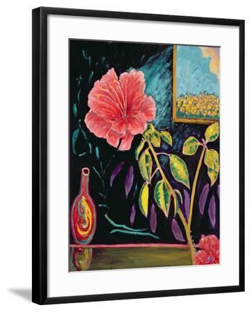 Hibiscus with Vase-Patricia Eyre-Framed Giclee Print