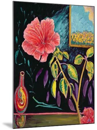 Hibiscus with Vase-Patricia Eyre-Mounted Giclee Print