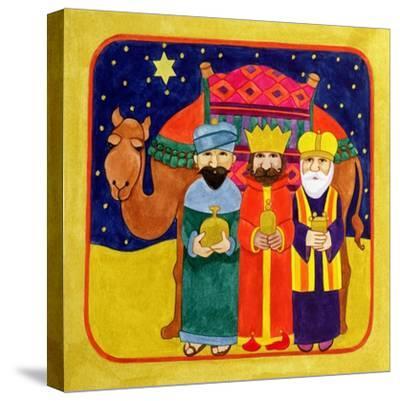 Three Kings and Camel-Linda Benton-Stretched Canvas Print