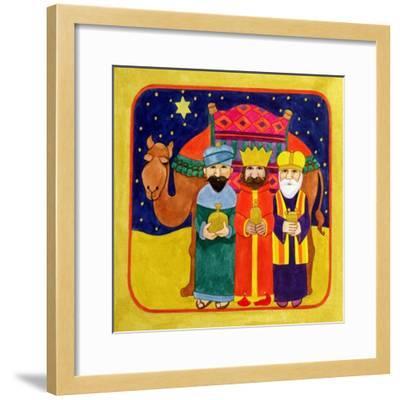 Three Kings and Camel-Linda Benton-Framed Giclee Print