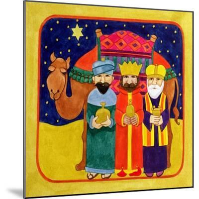 Three Kings and Camel-Linda Benton-Mounted Giclee Print