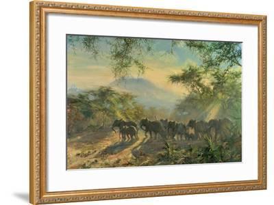 Elephant, Kilimanjaro, 1995-Tim Scott Bolton-Framed Giclee Print