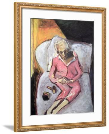Woman with Lipstick-Julie Held-Framed Giclee Print