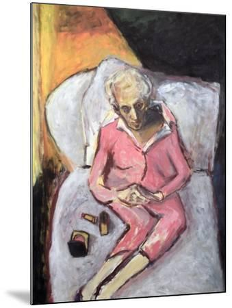 Woman with Lipstick-Julie Held-Mounted Giclee Print