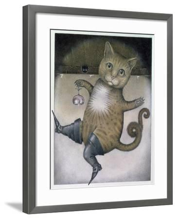 Puss in Boots Doing a Somersault-Wayne Anderson-Framed Giclee Print