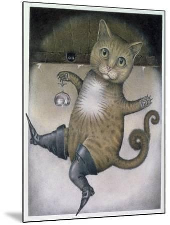 Puss in Boots Doing a Somersault-Wayne Anderson-Mounted Giclee Print