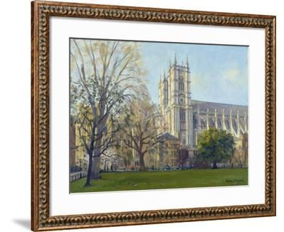 Westminster Abbey from Dean's Yard-Julian Barrow-Framed Giclee Print