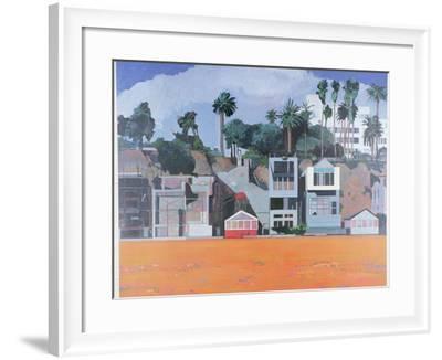 Houses under the Cliff, Santa Monica, USA, 2002-Peter Wilson-Framed Giclee Print