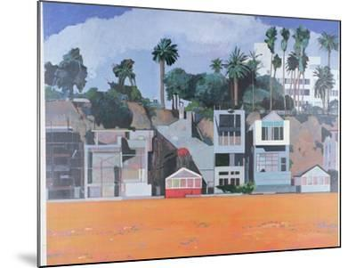 Houses under the Cliff, Santa Monica, USA, 2002-Peter Wilson-Mounted Giclee Print