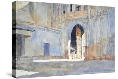 Palace Gate, Gujarat-Lucy Willis-Stretched Canvas Print