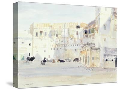 Evening at the Palace, Bhuj, 1999-Lucy Willis-Stretched Canvas Print