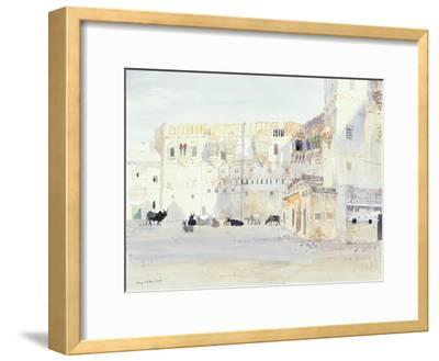 Evening at the Palace, Bhuj, 1999-Lucy Willis-Framed Giclee Print