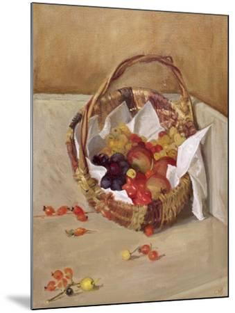 Basket of Fruit-Caroline Hervey-Bathurst-Mounted Giclee Print