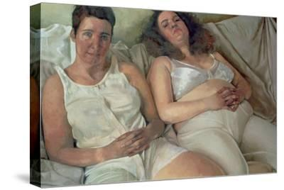 Two Women in White, 2000-Victoria Russell-Stretched Canvas Print