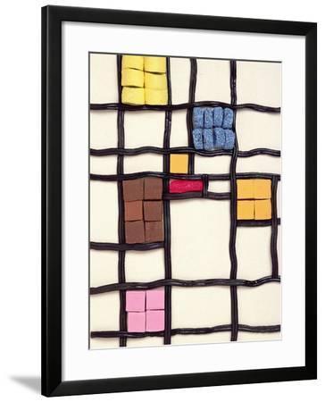 Allsorts 1 (After Mondrian) 2003-Norman Hollands-Framed Photographic Print