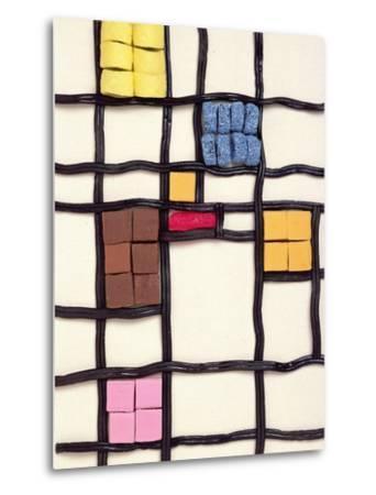 Allsorts 1 (After Mondrian) 2003-Norman Hollands-Metal Print