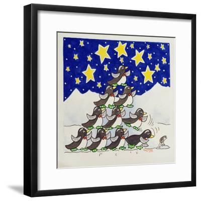 Penguin Formation, 2005-Tony Todd-Framed Giclee Print