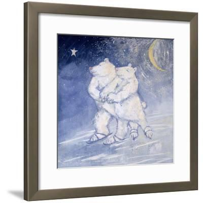 Skating by Moonlight-David Cooke-Framed Giclee Print