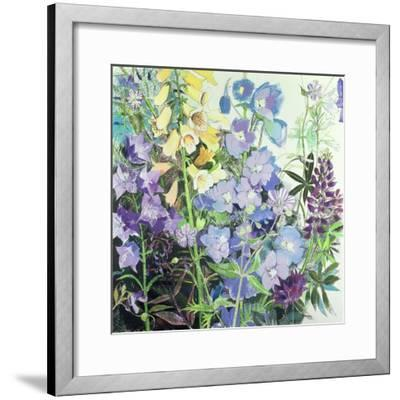 Delphiniums and Foxgloves-Claire Spencer-Framed Giclee Print