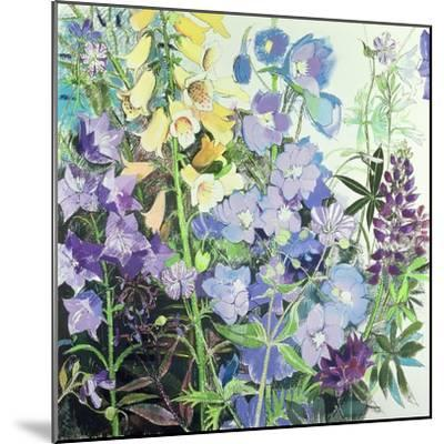 Delphiniums and Foxgloves-Claire Spencer-Mounted Giclee Print