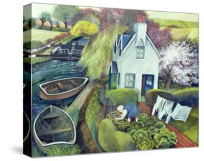 St. Catherine's, Lock Gates-Lisa Graa Jensen-Stretched Canvas Print