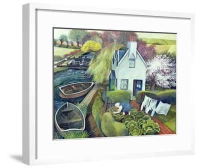 St. Catherine's, Lock Gates-Lisa Graa Jensen-Framed Giclee Print