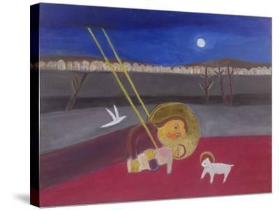 Mother and Child at Mazar, 2002-Roya Salari-Stretched Canvas Print